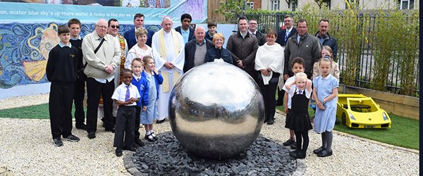 Bishop Declan blesses new sensory garden