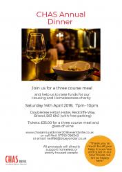 CHAS Annual Dinner @ Doubletree Hilton, Redcliffe Way, Bristol | England | United Kingdom