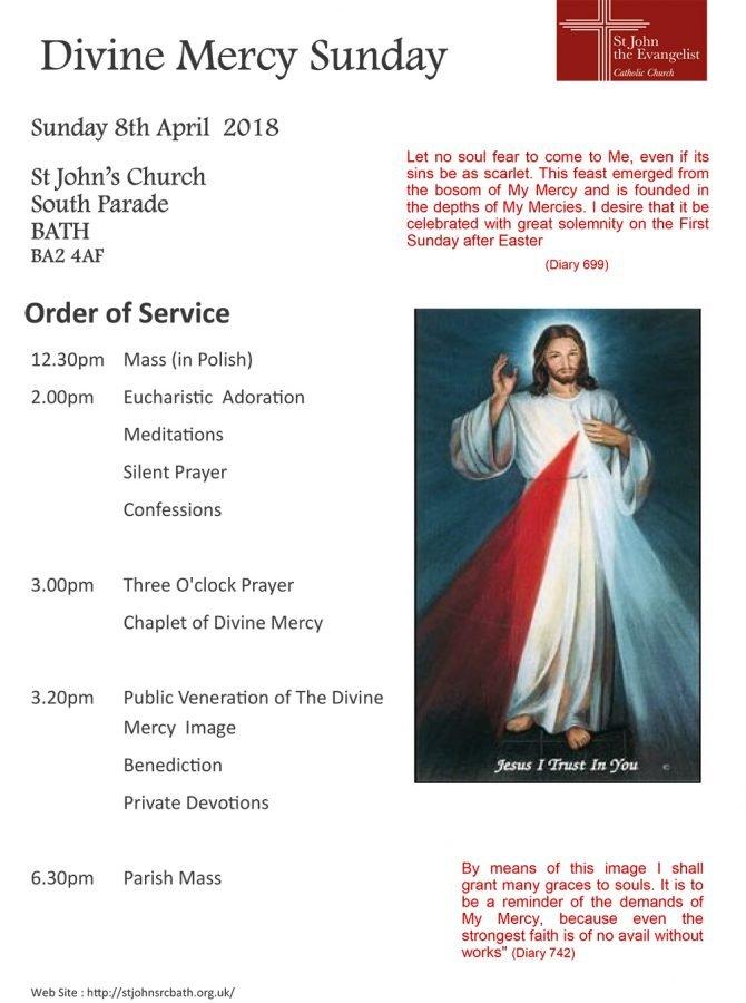 Divine Mercy Sunday @ St John's Church South Parade BATH | England | United Kingdom