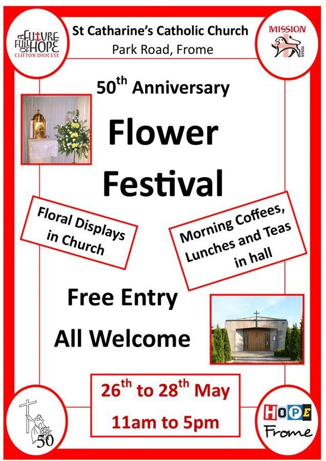 Flower Festival @ St Catharine's Catholic Church, Park Road, Frome | England | United Kingdom