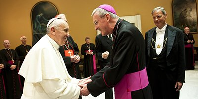 Bishop Declan meets Pope Francis homepage