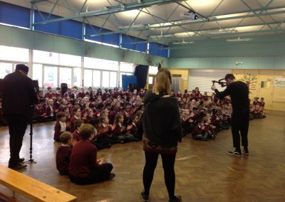 Holy Family Primary School - Filming collective worship