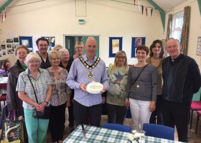 Mayor of Frome with Celebratory Cake