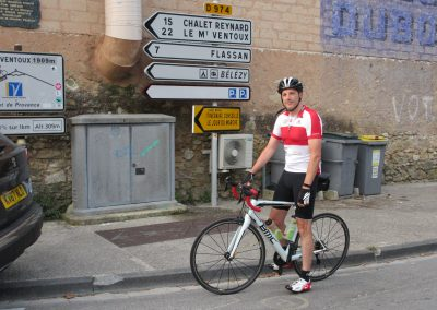 14. Starting at 6.30am to go up to Mont Ventoux