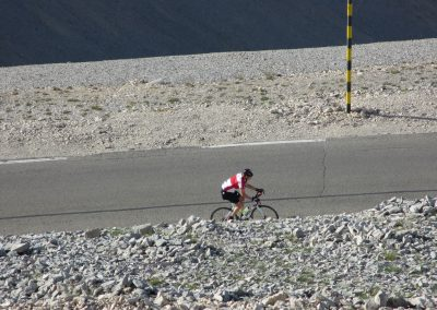 16. Solitary climber nears the summit of Mont Ventoux