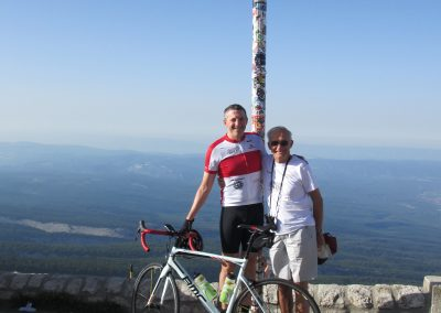17. Father and Son at the top of Mont Ventoux