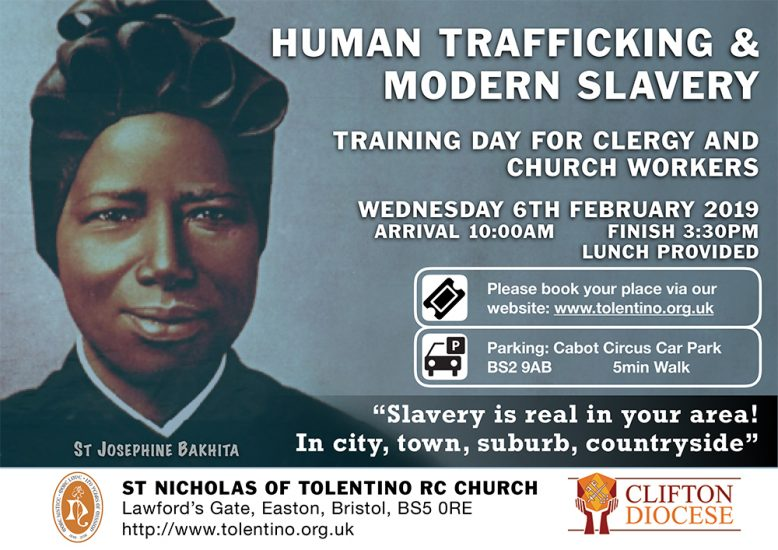 HUMAN TRAFFICKING & MODERN SLAVERY - TRAINING DAY FOR CLERGY AND CHURCH WORKERS @ ST NICHOLAS OF TOLENTINO RC CHURCH Lawford's Gate, Easton, Bristol, BS5 0RE | England | United Kingdom