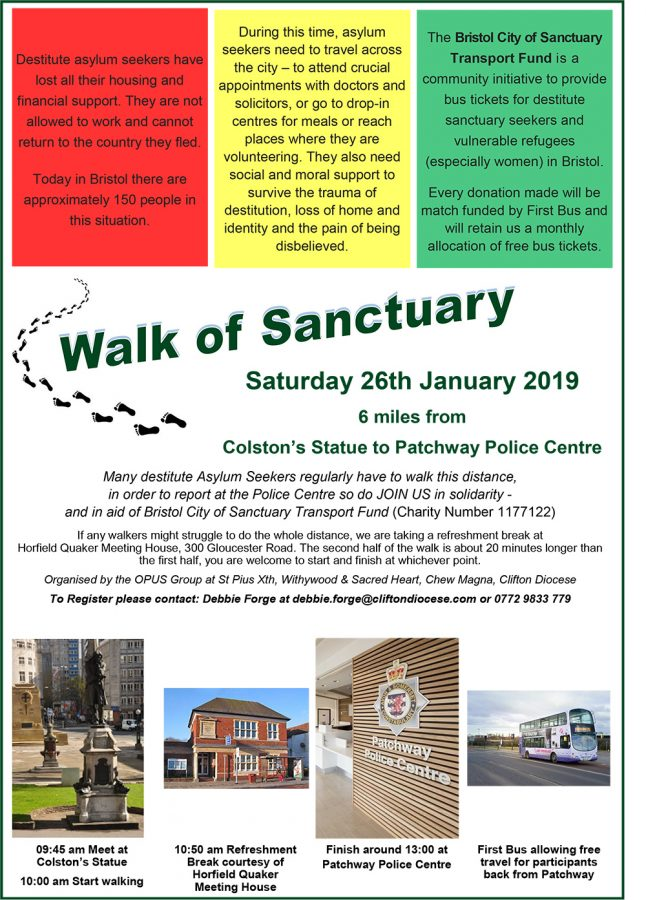 Walk of Sanctuary @ Colston's Statue to Patchway Police Centre