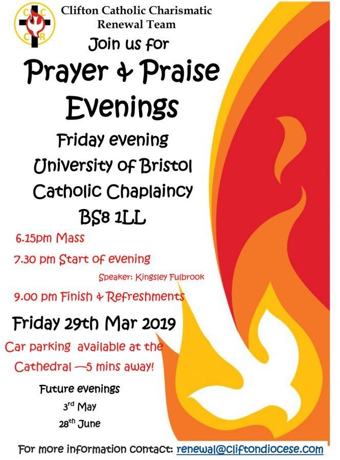 Prayer & Praise Evening @ University of Bristol Catholic Chaplaincy BS8 1LL
