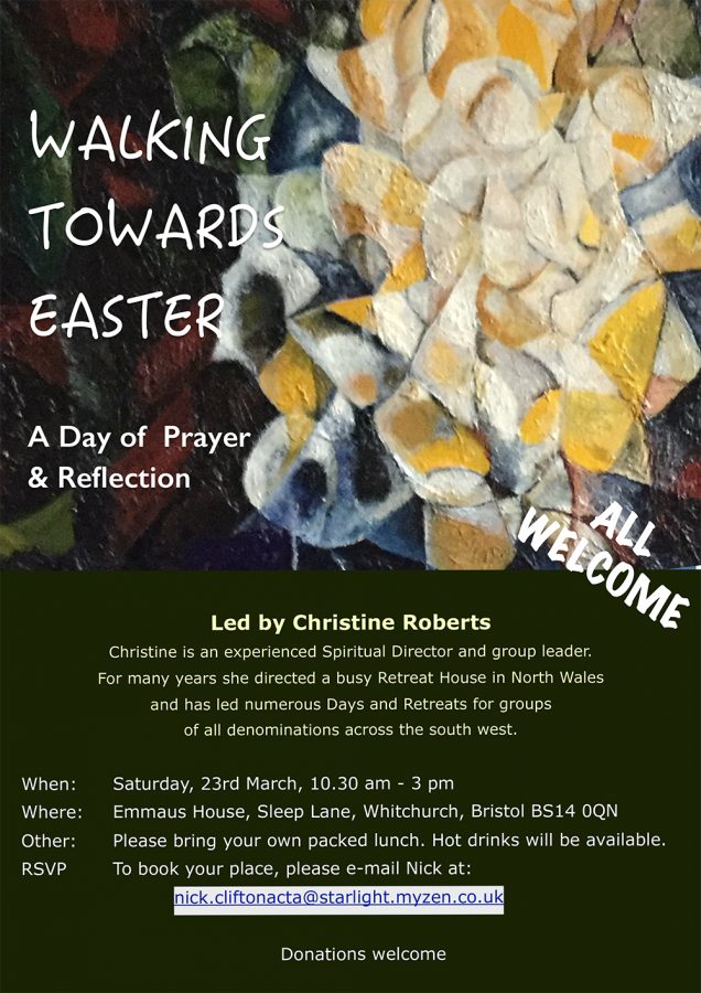 Walking towards Easter – A Day of Prayer & Reflection | Clifton Diocese