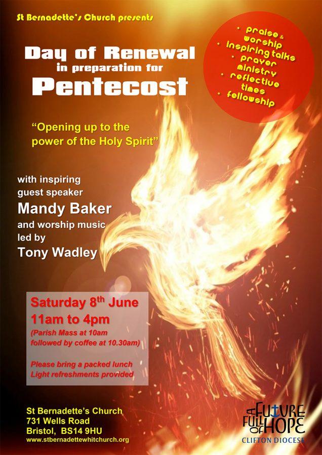 Day of Renewal in Preparation for Pentecost @ St Bernadette's Church, 731 Wells Road, Bristol, BS14 9HU