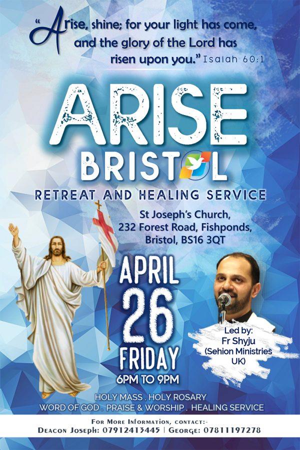 Arise Bristol @ St Joseph's Church, 232 Forest Road Fishponds, ,Bristol, BS16 3QT