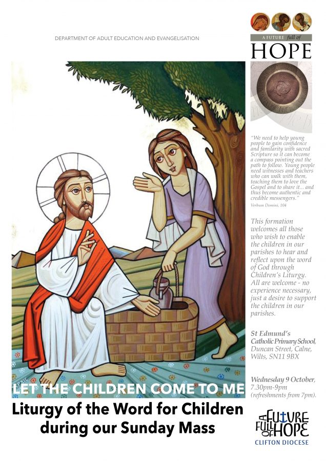 Liturgy of the Word for Children during our Sunday Mass @ St Edmund's Catholic Primary School, Duncan Street, Calne, Wilts | England | United Kingdom