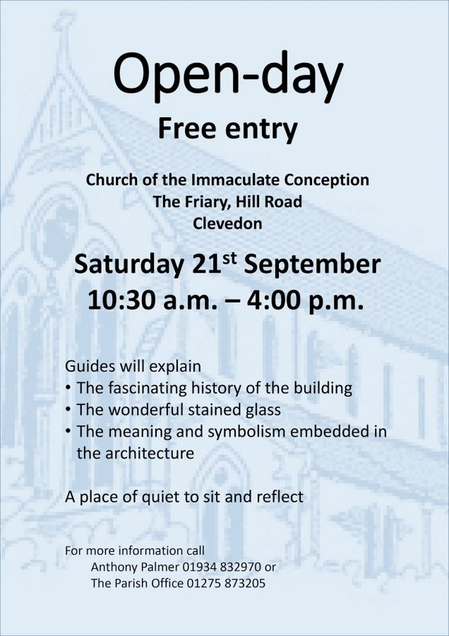 Open Day @ Church of the Immaculate Conception | England | United Kingdom