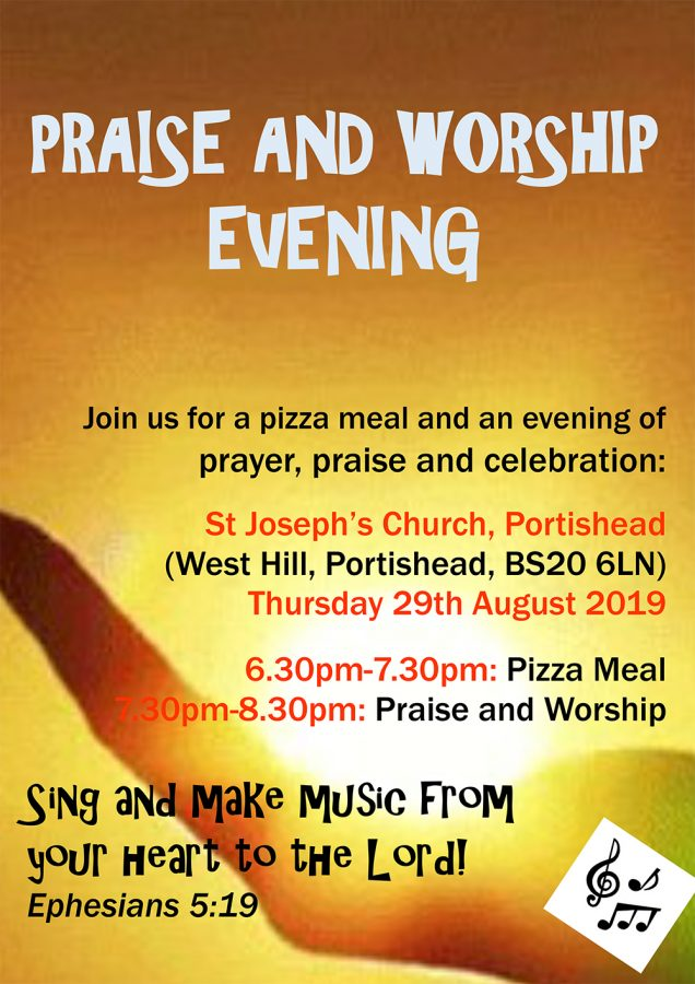 Praise and Worship Evening @ St Joseph's Church, Portishead | Portishead | England | United Kingdom