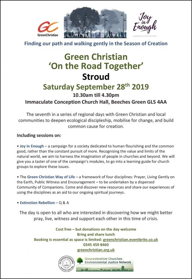 Green Christian 'On the Road Together' @ Immaculate Conception Church Hall, Beeches Green GL5 4AA | England | United Kingdom