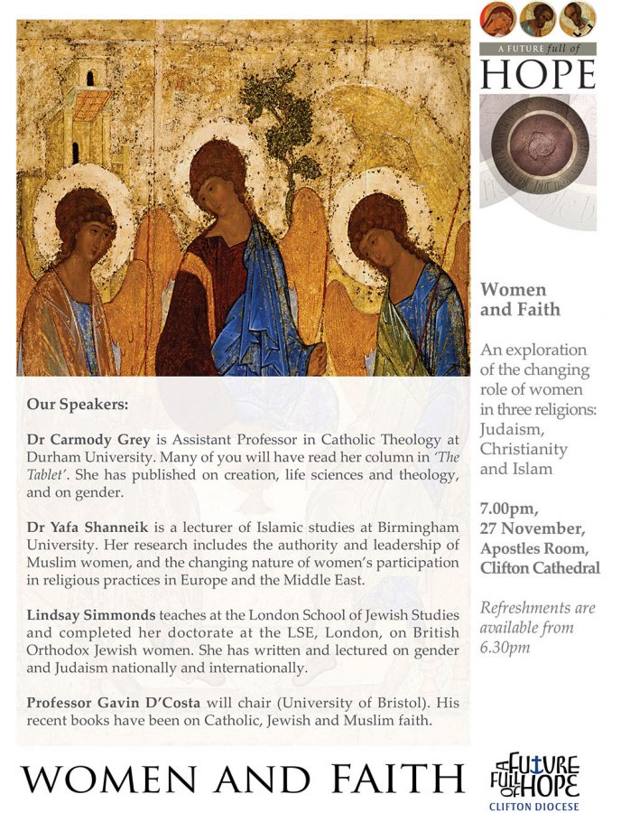 Women and Faith @ Apostles Room, Clifton Cathedral