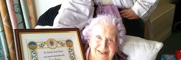 Minehead Parishioner celebrates Centenary!