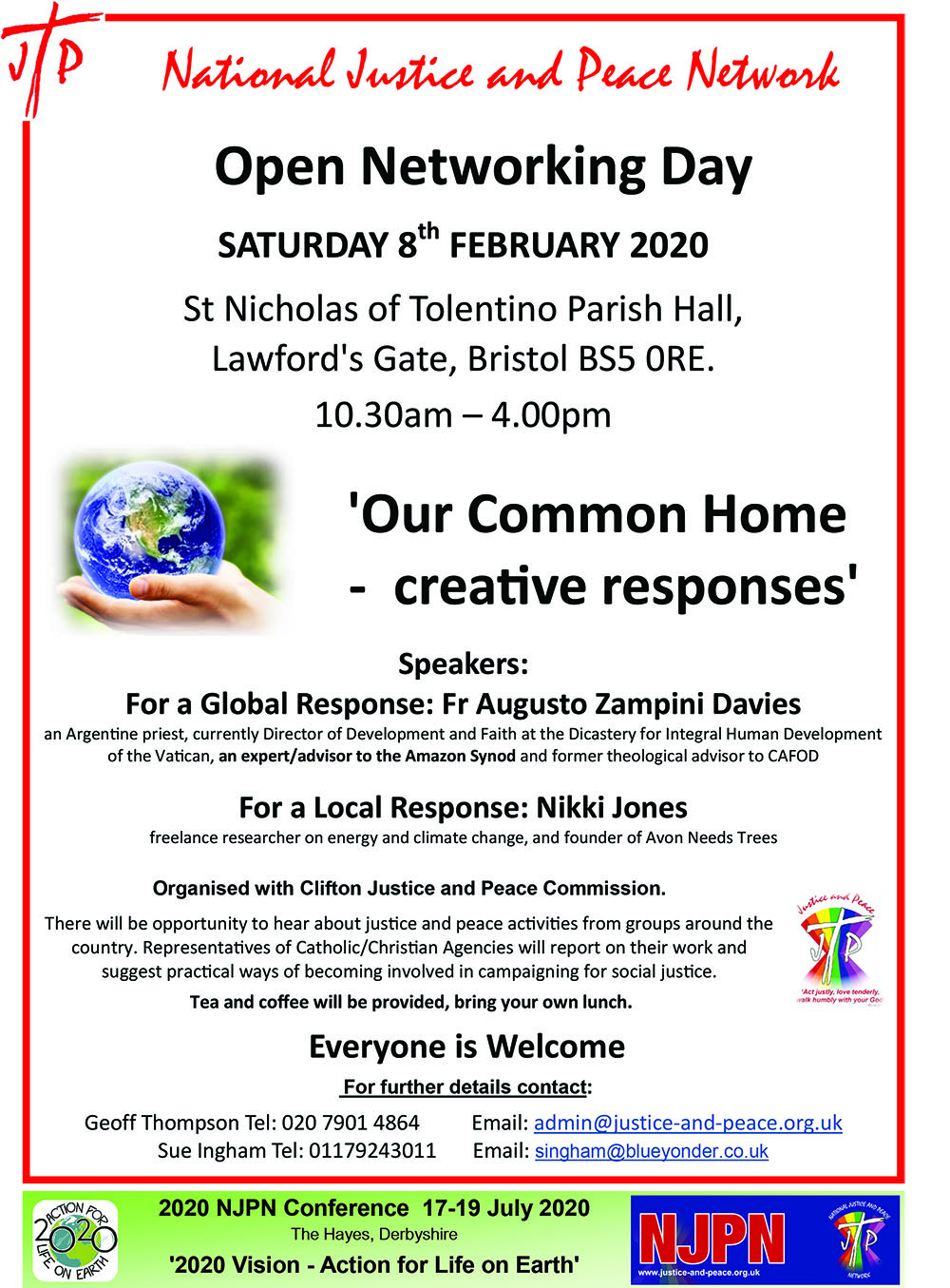 National Justice and Peace Network Open Networking Day @ St Nicholas of Tolentino Parish Hall, Lawford's Gate, Bristol   England   United Kingdom