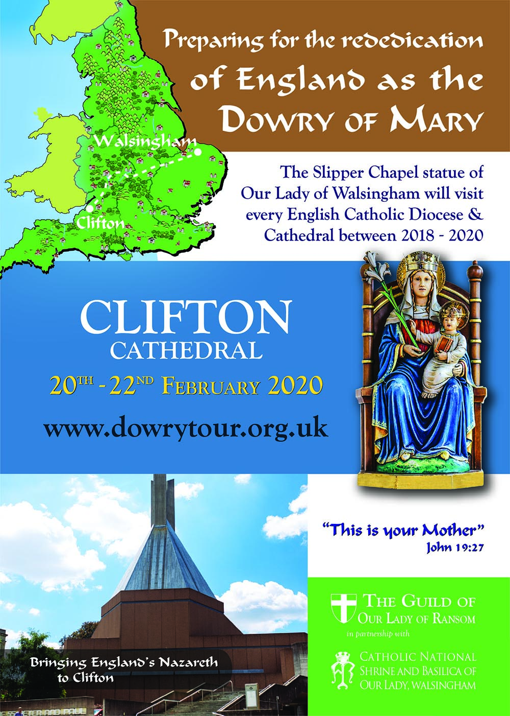 Preparing for the re-dedication of England as the Dowry of Mary @ Clifton Cathedral | England | United Kingdom