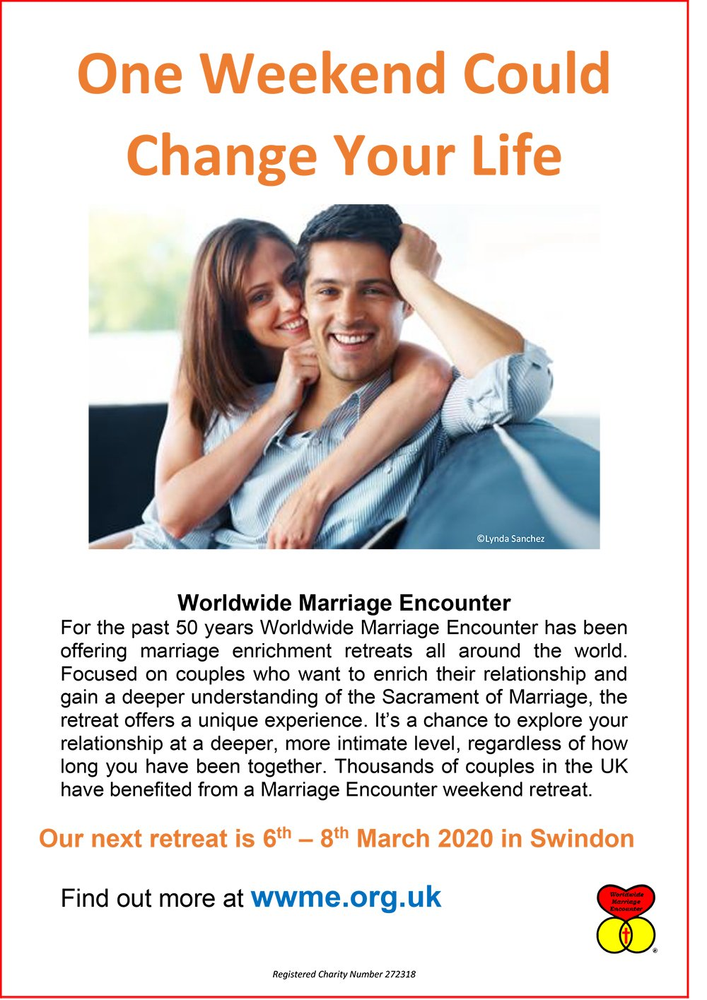 One Weekend Could Change Your Life - Worldwide Marriage Encounter @ Campanile Hotel | England | United Kingdom