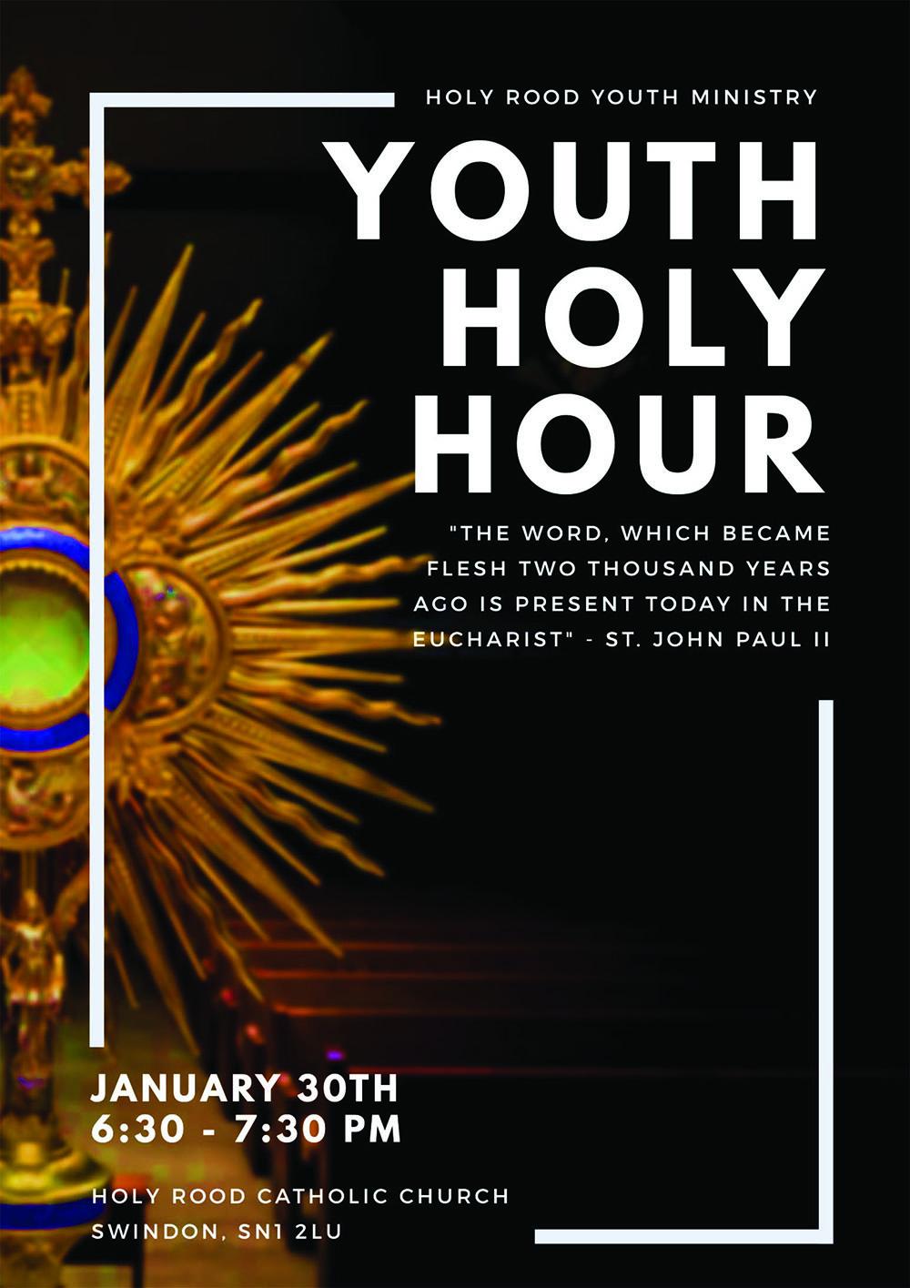 Youth Holy Hour @ Holy Rood Swindon   England   United Kingdom